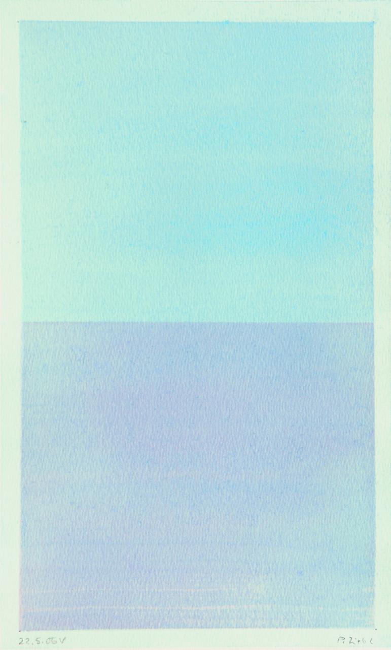Horizont (Virginia) 2005 Aquarell 16x26cm