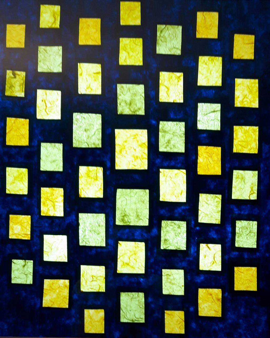 Komposition 2017 Scherenschnitt im Leuchtkasten 50x60cm
