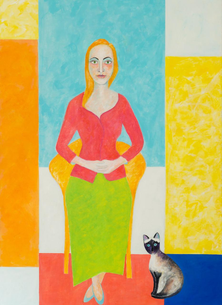 Judith 2017 Acryl auf Leinwand 100x140cm
