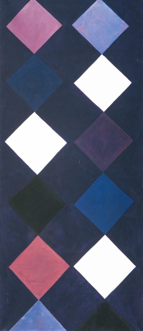 Dunkle Säule 1981 Öl auf Leinwand 65x160cm