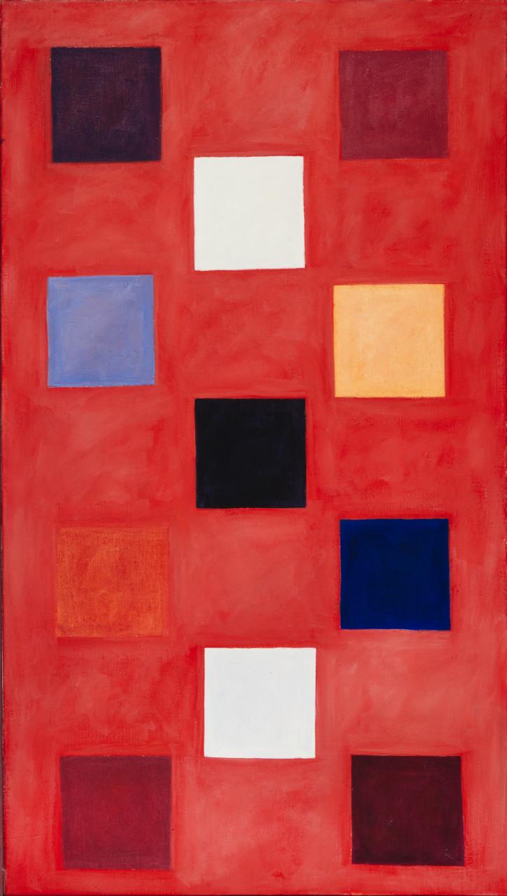 Komposition 1984 Öl auf Leinwand 94x150cm
