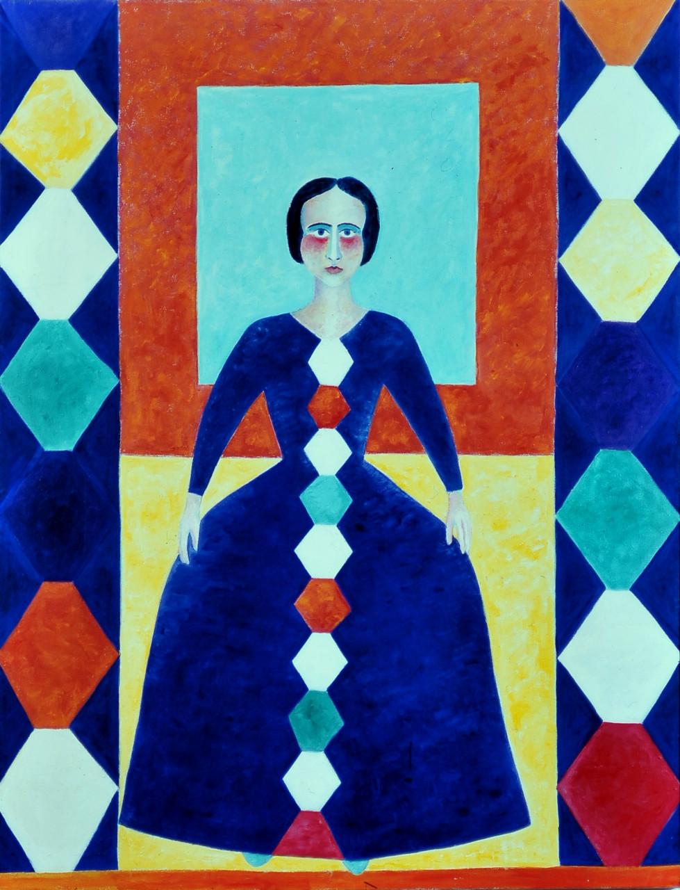 Sophia (Velasquez) 1996 Öl auf Leinwand 100x130cm