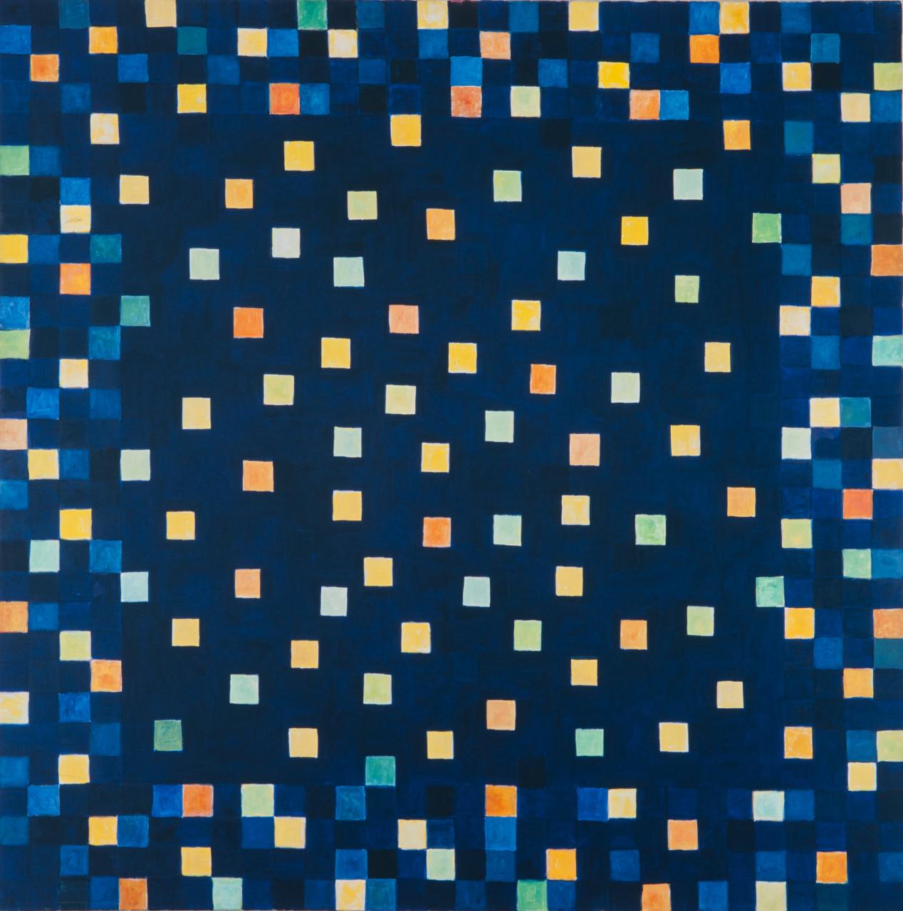 Sternenhimmel 1997 Mischtechnik auf Leinwand 150x150cm