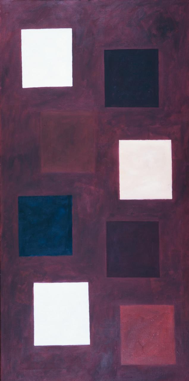Komposition (Auferstehung) 1979 Öl auf Leinwand 70x140cm