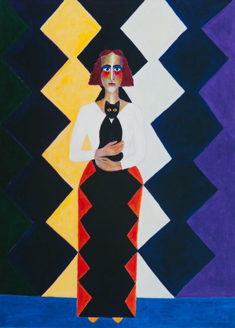 Monika (Kore) 1990 Öl auf Leinwand 95x130cm