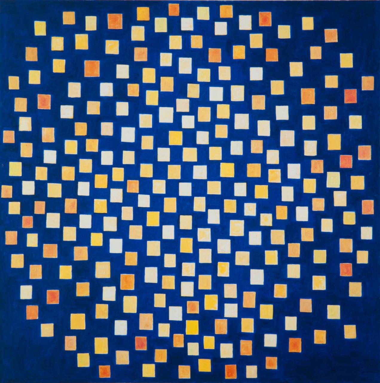 Sternenhimmel 1998 Mischtechnik auf Leinwand 150x150cm