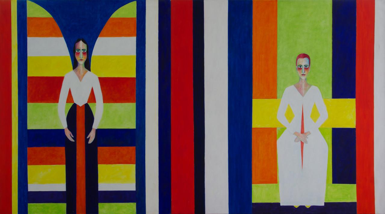 Verkündigung (Diptychon) 2002 Öl auf Leinwand 250x150cm