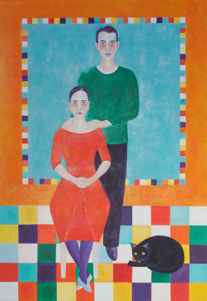 Sophia und Matthias 2016 Acyl auf Leinwand 120x160cm