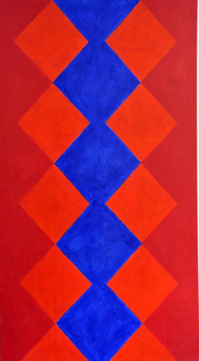 Säule (Feuer) 2013 Acryl auf Leinwand 100x180cm