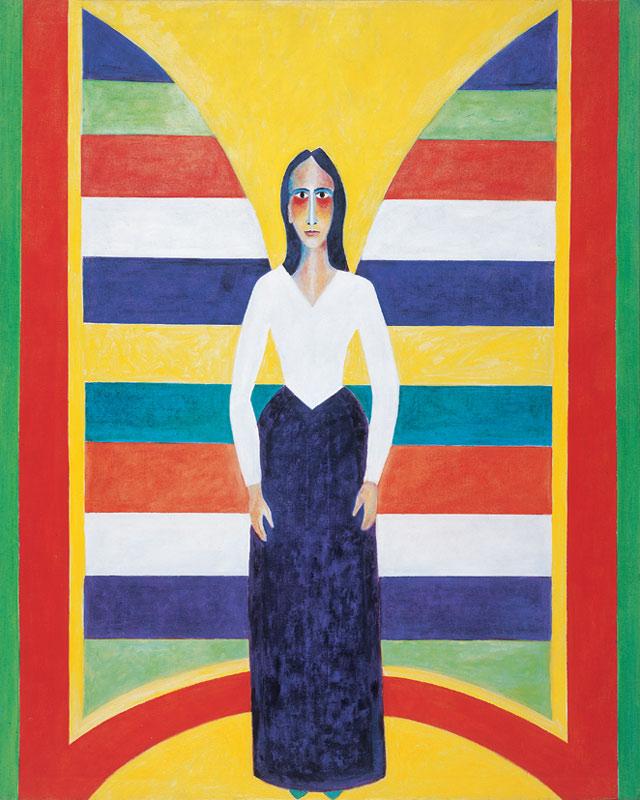 Lana (Engel) 1999 Öl auf Leinwand 110x150cm