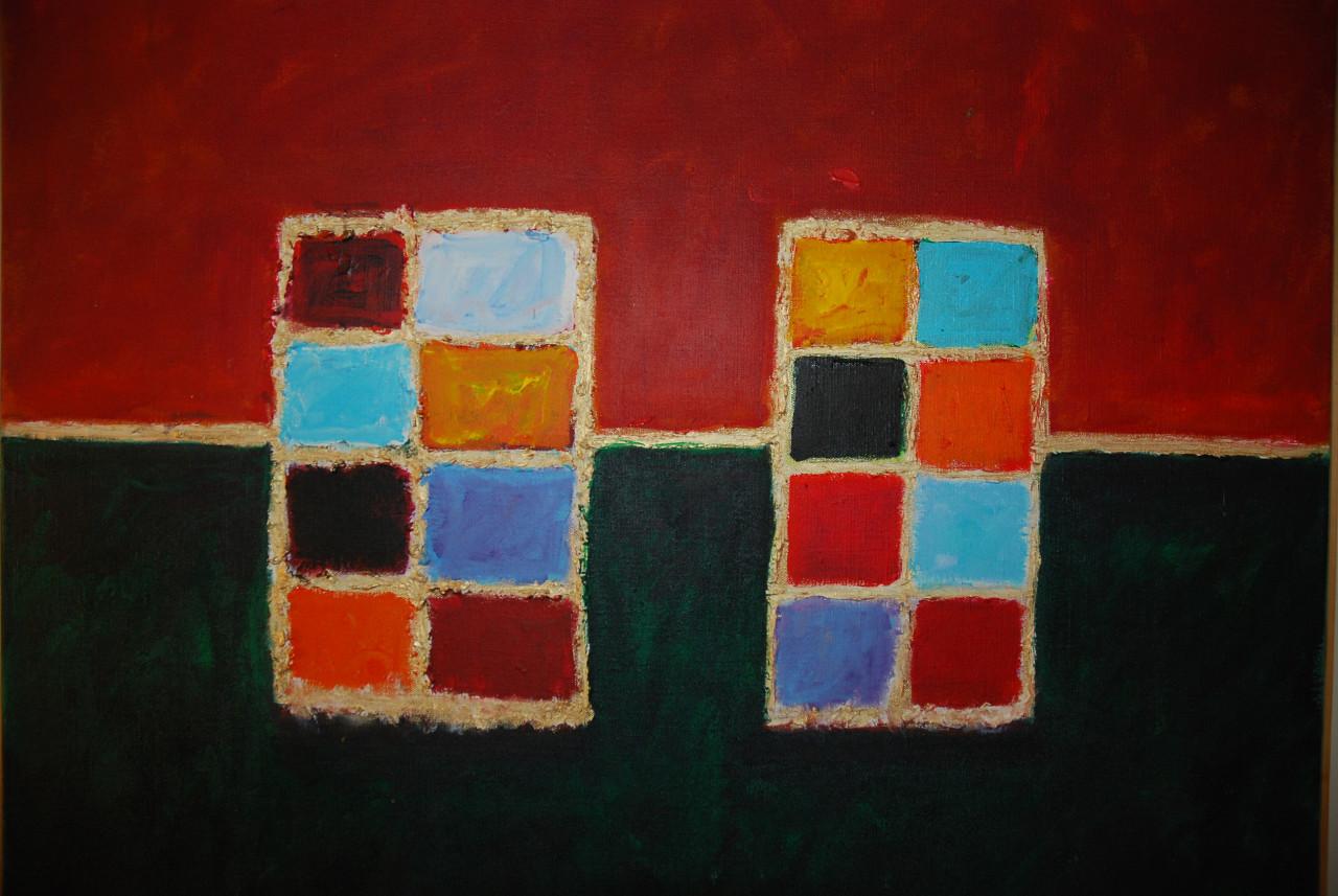 Komposition 2006 Acryl auf Leinwand 70x50cm