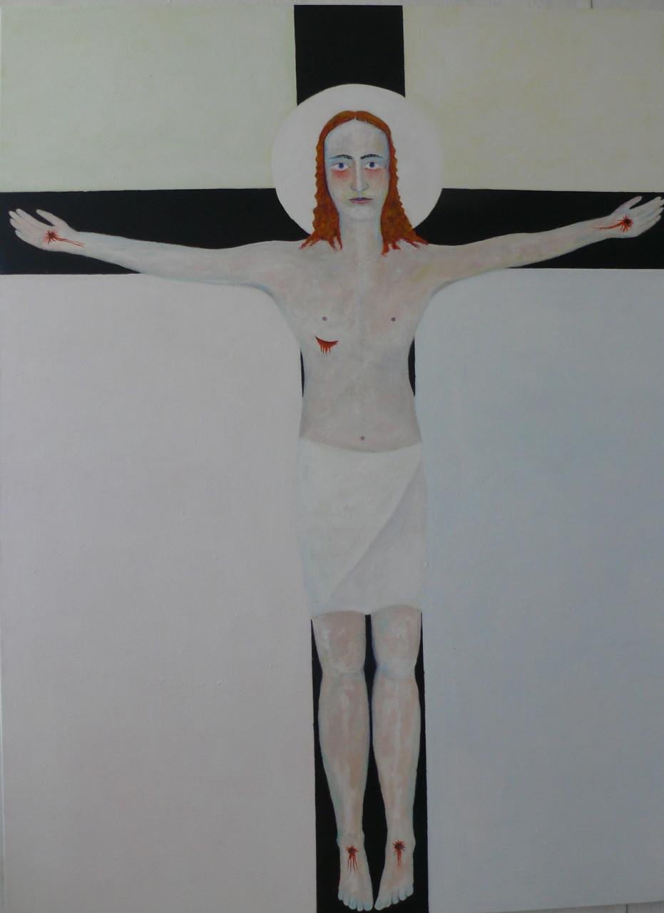 Kreuzigung 2016 Acryl auf Leinwand 120x160cm