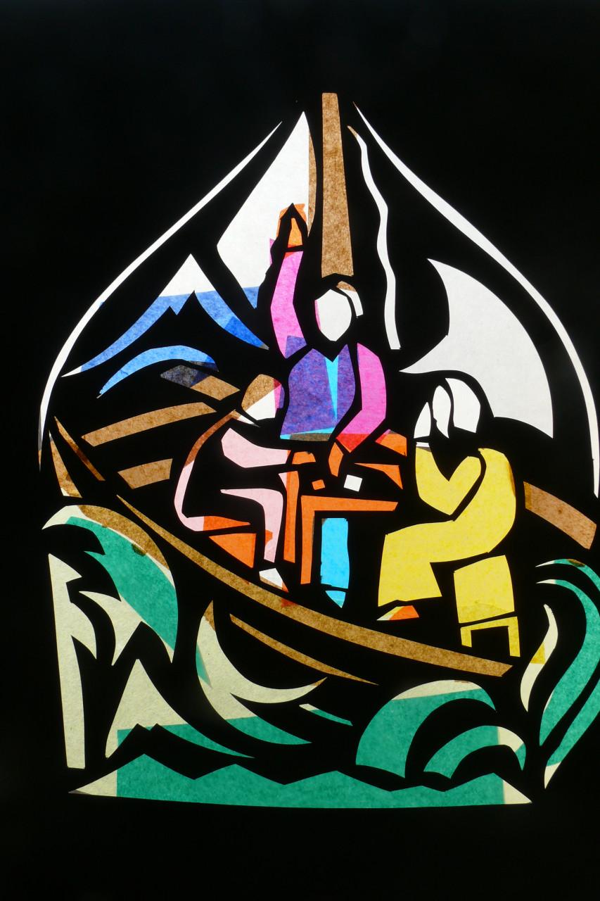Das Buch Jona illustriert in 12 Bildern 1988 Scherenschnitt 35x49cm