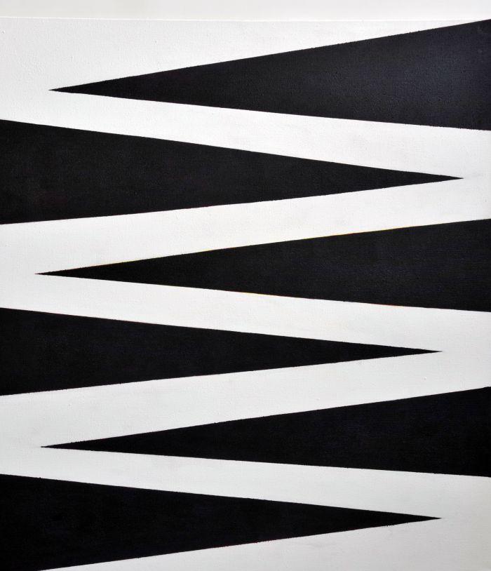Komposition Schwarz-Weiß für Liao Yiwu 2011 Acryl auf Leinwand 160x190cm