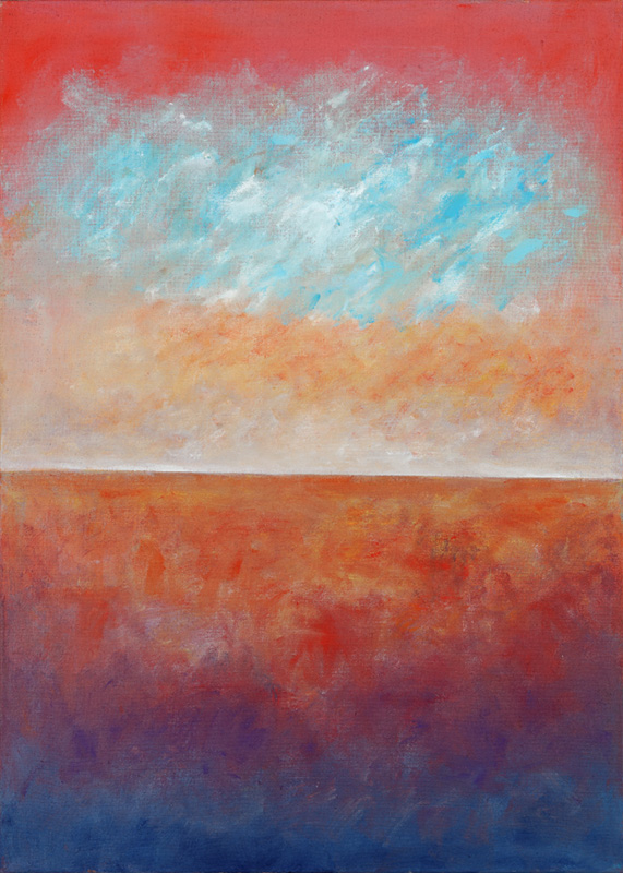 Horizont 2004 Acryl auf Leinwand 100x140cm
