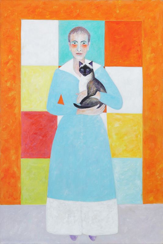 Monika mit Moisa 2012 Acryl auf Leinwand 100x150cm