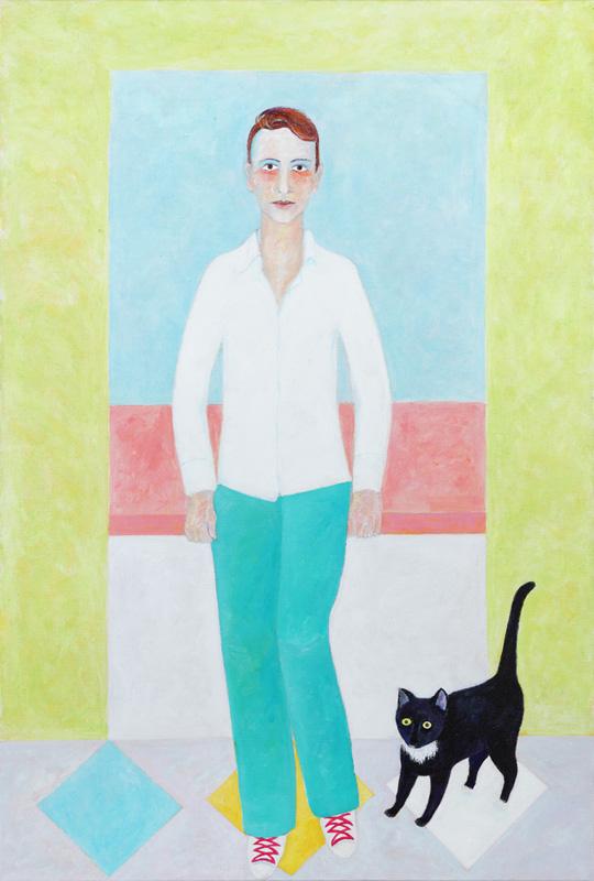 Clemens mit Murri 2013 Acryl auf Leinwand 100x150cm