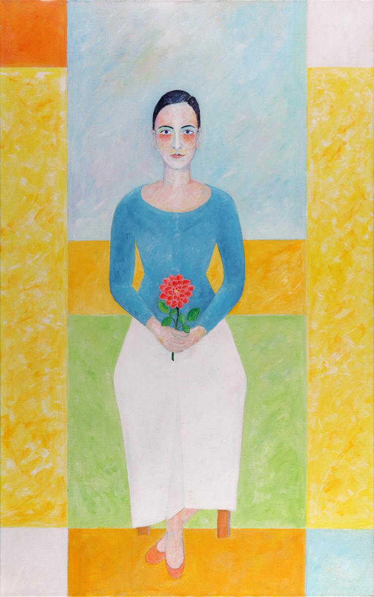 Sophia mit Blume 2013 Acryl auf Leinwand 100x160cm